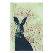 KE Design Linen Tea Towel Wild Rabbit