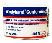 Handyband Conforming Gauze Bandage White 2.5cm x 1.5m