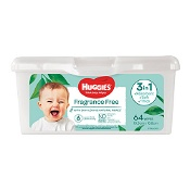 Huggies Fragrance Free 64 Thick Baby Wipes in Refillable Tub