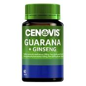 Cenovis Guarana 2000mg & Ginseng 500mg 60 Tablets