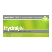 Hydralyte Effervescent Electrolyte Tablets Lemon Lime 40 Pack