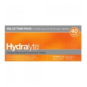 Hydralyte Effervescent Electrolyte Tablets Orange 40 Pack