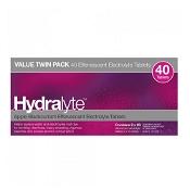 Hydralyte Effervescent Electrolyte Tablets Apple Blackcurrent 40 Pack
