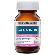 Ethical Nutrients Mega Iron with Activated B Vitamins 30 Capsules