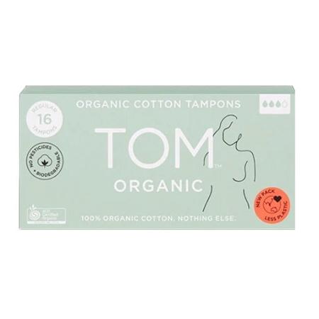 Tom Organic Cotton Tampons 16 Regular Tampons