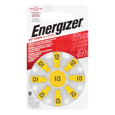 Energizer Hearing Aid Battery 10 8 Pack