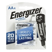 Energizer Ultimate Lithium Battery AA 4 Pack