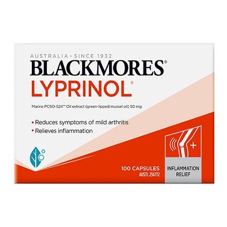 Blackmores Lyprinol Natural Anti-Inflammatory Value Pack 100 Capsules