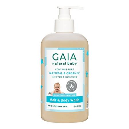 Gaia Natural Baby Hair & Body Wash 500ml