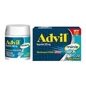 Advil Minis Ibuprofen 200mg 20 Liquid Capsules