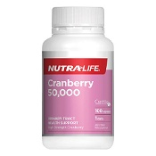 Nutra-Life Cranberry 50,000 Urinary Tract Health Support 100 Capsules