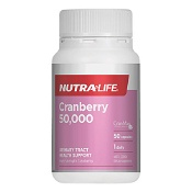 Nutra-Life Cranberry 50,000 Urinary Tract Health Support 50 Capsules