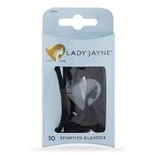 Lady Jayne Super Hold Thick Elastic Black 10 Pack