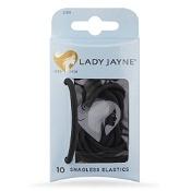 Lady Jayne Snagless Elastics Thick Black 10 Elastics