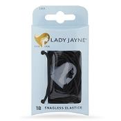Lady Jayne Snagless Elastics Black 18 Pack