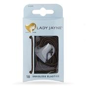 Lady Jayne Snagless Elastics Brown 18 Pack