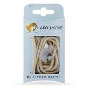 Lady Jayne Snagless Elastics In Blonde 10 Pack