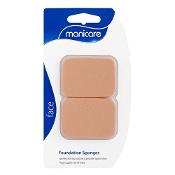 Manicare Foundation Sponge Brown Rectangle Latex 2 Pack