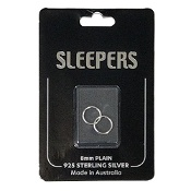 Studex Plain Mini 8mm Sleeper Earring Silver 1 Pair