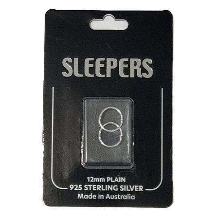 Studex Plain Small 12mm Sleeper Earring Silver 1 Pair