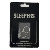 Studex Plain Medium 14mm Sleeper Earring Silver 1 Pair