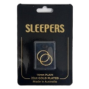Studex Plain Medium 14mm Sleeper Earring Gold 1 Pair