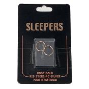 Studex Plain Small 12mm Sleeper Earring Rose Gold 1 Pair