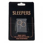 Studex Plain Medium 14mm Sleeper Earring Rose Gold 1 Pair
