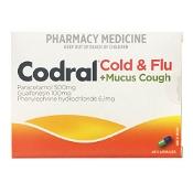 Codral PE Cold & Flu + Mucus Cough 48 Capsules