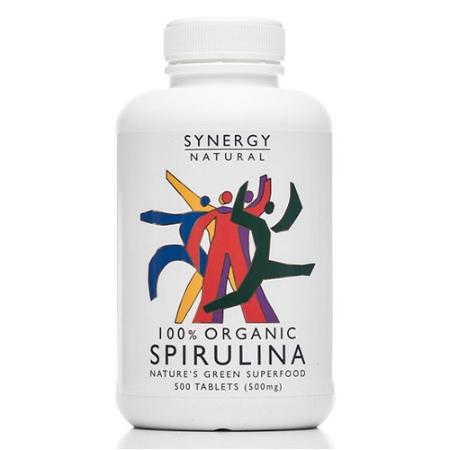 Synergy Natural Organic Spirulina 500 Tablets