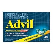 Advil Ibuprofen 200mg 40 Liquid Capsules