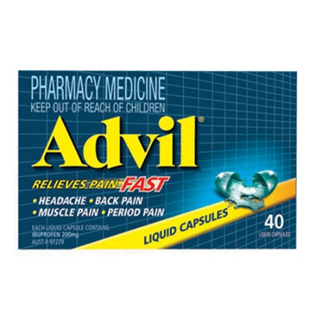 Advil Liquid Capsules 40 Capsules