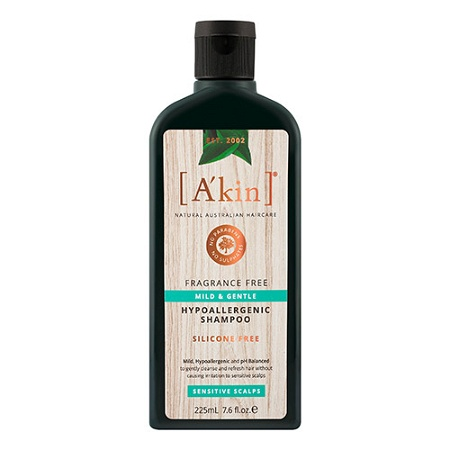 Akin Mild & Gentle Fragrance Free Shampoo 225ml