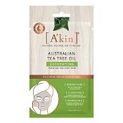 Akin Australian Tea Tree Oil Detoxifying Face Sheet Mask 1 Pack