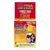 All Natural Kids Cough Cold & Throat Variety Pack 12 Lozenges