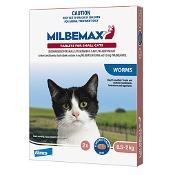 Milbemax Broad Spectrum Wormer Cat Small 0.5-2kg Pink 2 Pack