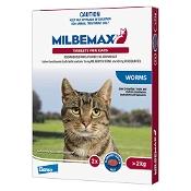 Milbemax Broad Spectrum Wormer Cat Large 2-8kg Red 2 Pack