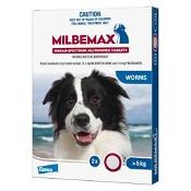 Milbemax Broad Spectrum Wormer Dog Large 5kg+ Blue 2 Pack