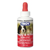 Troy Puppy & Kitten Worming Syrup 50ml