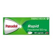 Panadol Rapid Paracetamol 500mg Pain Relief 40 Caplets