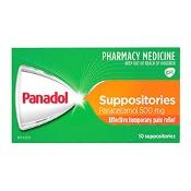 Panadol Suppositories Paracetamol 500mg 10 Suppositories