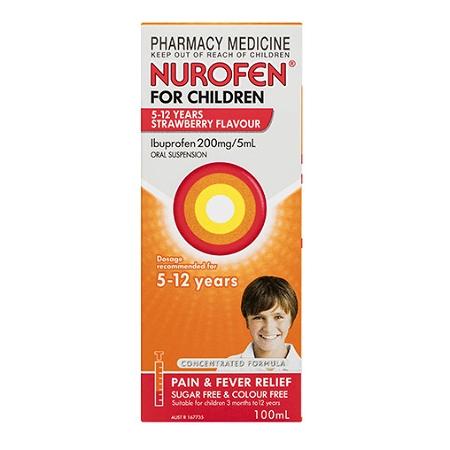 Nurofen for Children 5 - 12 Years Strawberry 100ml