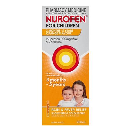 Nurofen for Children 3 Months - 5 Years Orange 200ml