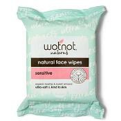 Wotnot Sensitive with Organic Rosehip & Sweet Almond 25 Facial Wipes
