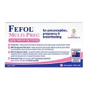 Fefol Multi-Preg with Omega-3 and Iodine 60 Capsules