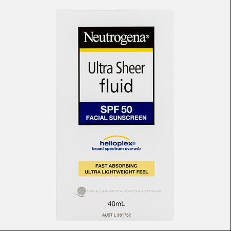 Neutrogena Ultra Sheer Fluid SPF50 40ml