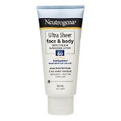 Neutrogena Ultra Sheer Face & Body Lotion SPF50+ 88ml