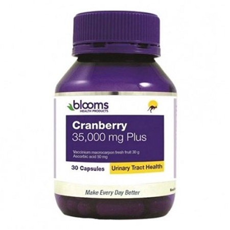Henry Blooms Cranberry 30,000mg Plus Vitamin C & Silica 30 Capsules