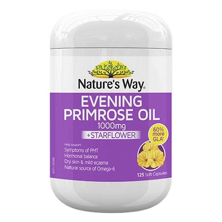 Natures Way Evening Primrose Oil 1000mg + Star Flower Oil 125 Capsules