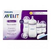 Avent Natural Newborn Starter Set 4 Bottles & 1 Soother